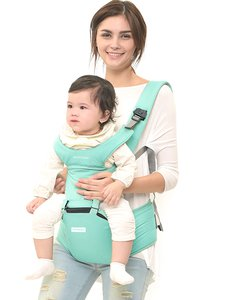 MOOIMOM Lightweight Hipseat Carrier Gendongan Bayi Tiffany Blue