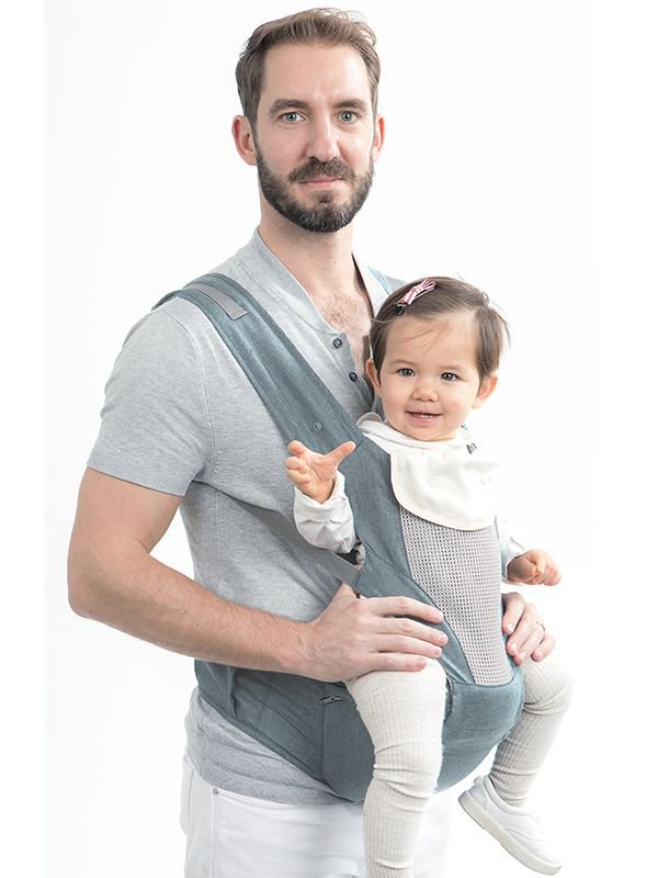 MOOIMOM Breathable Hipseat Carrier Denim