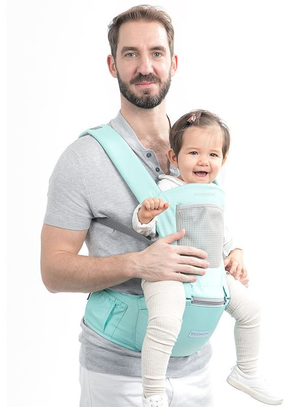 MOOIMOM Casual Hipseat Carrier Green