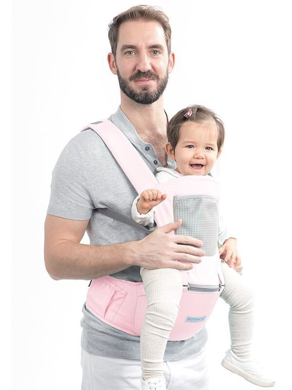 MOOIMOM Casual Hipseat Carrier Pink