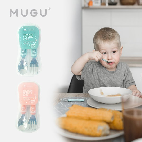 [MUGU] Toddler Spoon & Fork  - Sendok Garpu Anak