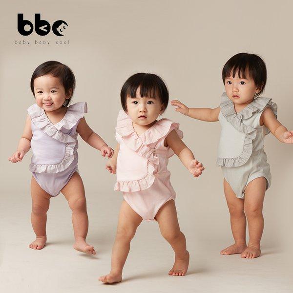 [baby baby cool] Ruffle Backless Jumper - Baju Anak Katun Organik