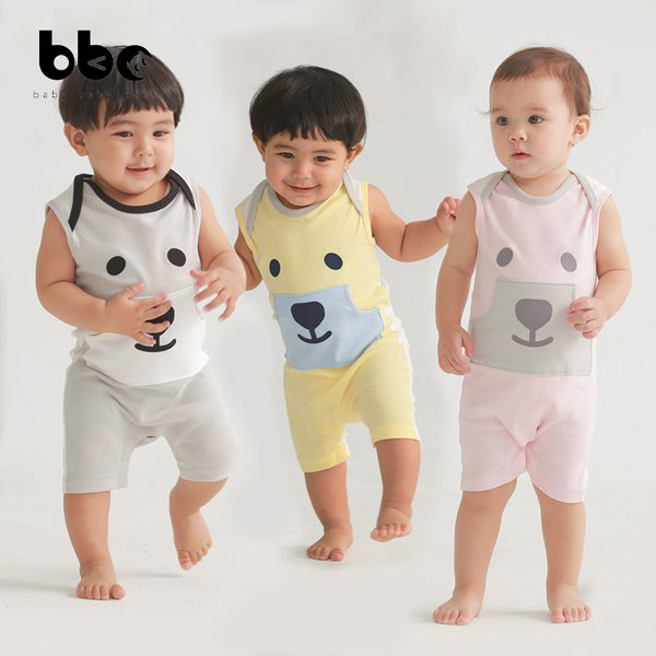 [baby baby cool] Baby bear Jumpsuit - Baju Anak Katun Organik
