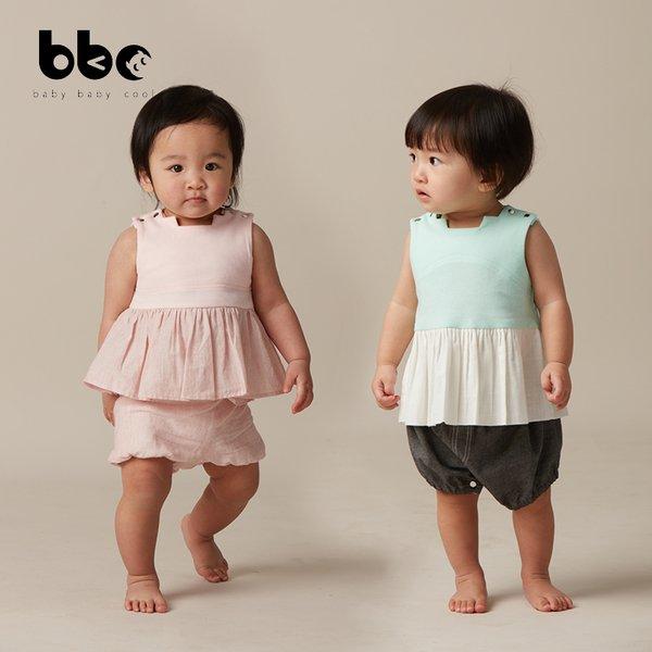 [baby baby cool] Sleeveless Ladder-Back Top - Baju Anak Katun Organik