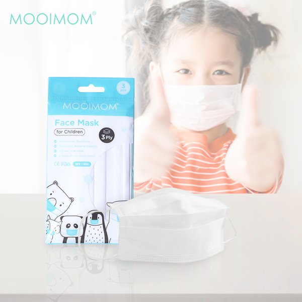 MOOIMOM Disposable Face Mask 3 Pcs - Masker Anak