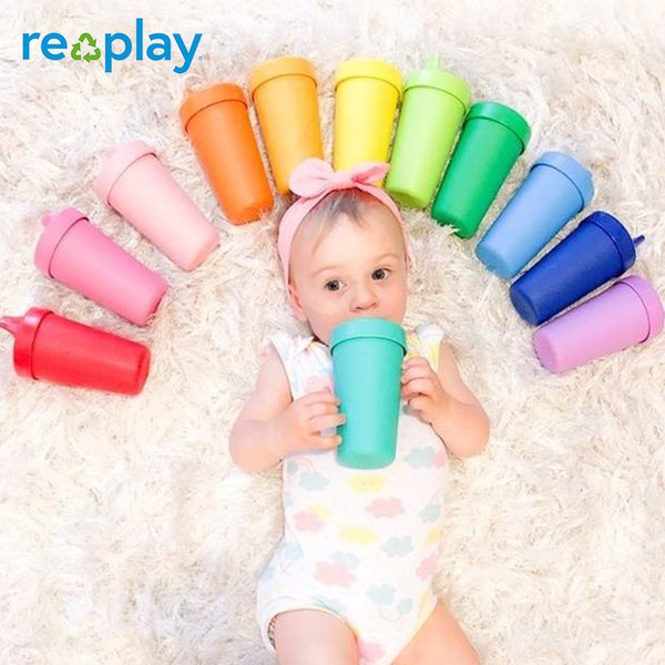 Re-Play Gelas Plastik Daur Ulang dengan Tutup - No Spill Sippy Cup