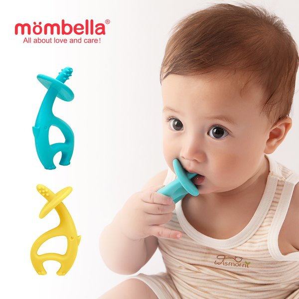 [MOMBELLA] Dancing Elephant Teether Mainan Gigitan Bayi - Yellow