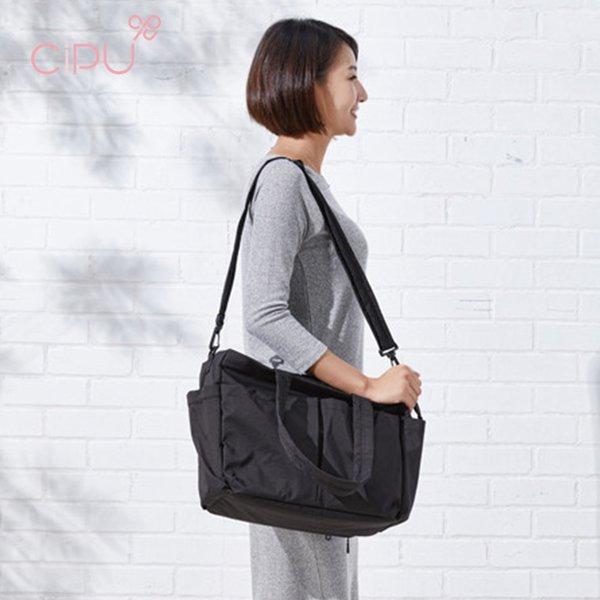 [CIPU] Light Tote Bag Simple Black L