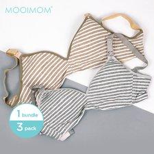 MOOIMOM Combo Hemat Bra Hamil Menyusui Stripe (Isi 3 Pcs)