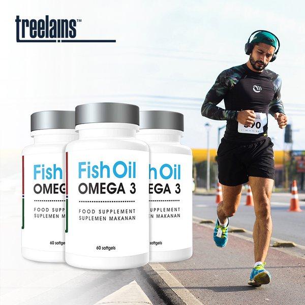 [TREELAINS] Fish Oil Omega 3 1000mg 60 pcs
