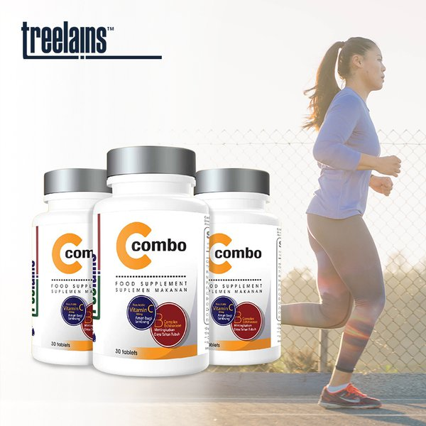 [TREELAINS] C 300mg Combo with B Complex and Echinacea 30 Tablet