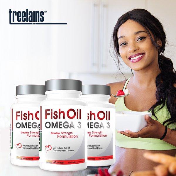 [TREELAINS] Fish Oil Omega 3 Double 1000mg 60 pcs