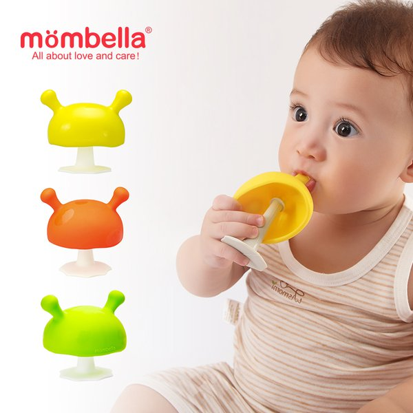 [MOMBELLA] Mushroom Soothing Teether Mainan Gigitan Bayi