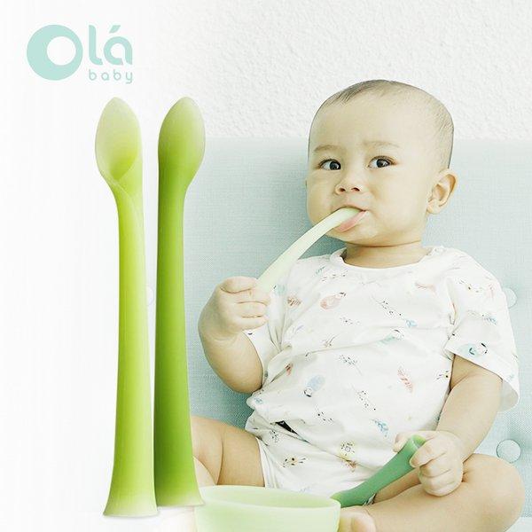 [OLA BABY] Feeding Spoon Sendok Makan Bayi (2 pcs)