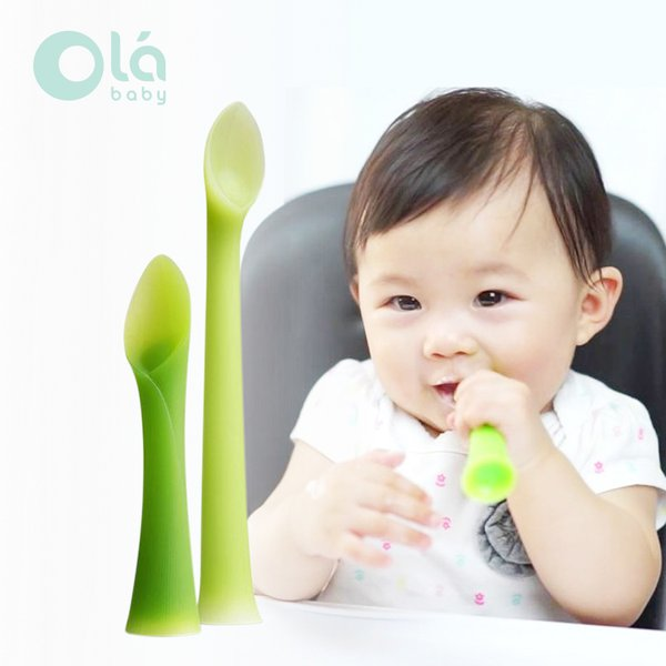 [OLA BABY] Feeding Spoon + Training Spoon(2PK) Sendok Makan Bayi
