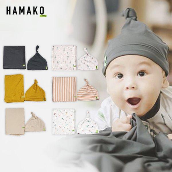[HAMAKO] Set Topi & Selimut Bayi Knot Beanie & Blanket