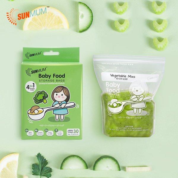 [SUNMUM] Food Storage Bags Kantong MPASI Bayi (30 Bag)