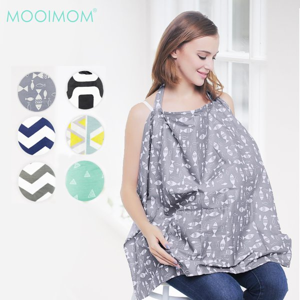 MOOIMOM BreastFeeding Nursing Cover Apron Celemek Menyusui