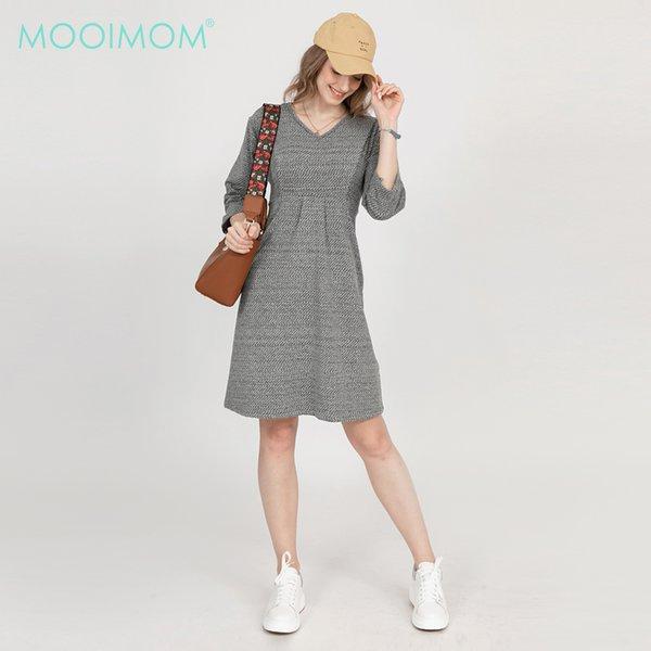 MOOIMOM Cotton Print Belted Maternity & Nursing Top - Baju Hamil & Menyusui