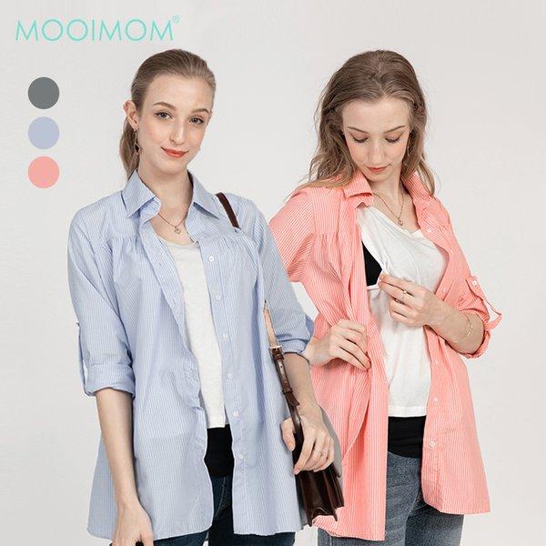 MOOIMOM Baju hamil & Menyusui Casual Stripe Shirt