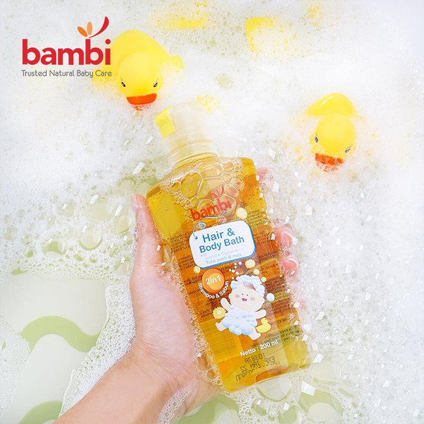 [BAMBI] Baby Hair & Body Bath 200ml - Sabun Bayi Anak