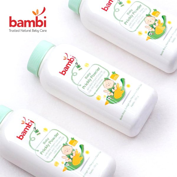 [BAMBI] Baby Prickly Heat Powder Little Sweety 100gr - Bedak Bayi