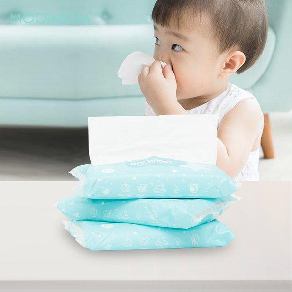 MOOIMOM Baby Dry Wipes Individual (Isi 60 lembar)