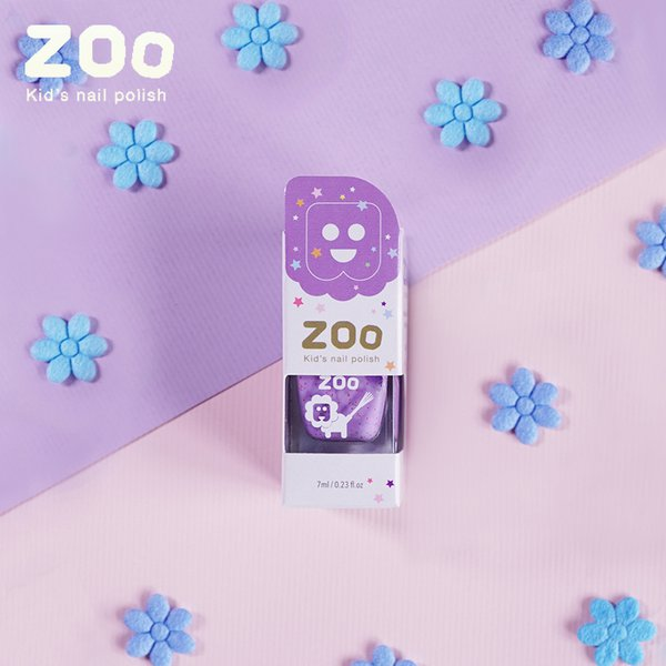 [LILY] Zoo Nail Polish Jelly Purple + Colorful Sequins - Cat Kuku Anak