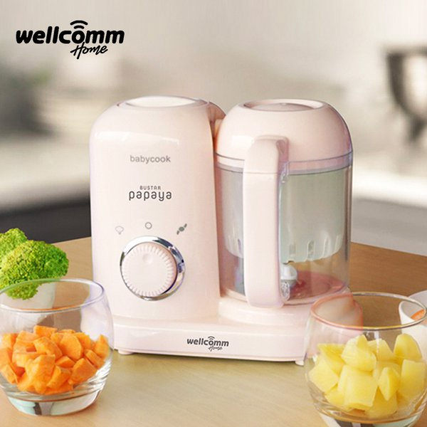 [WELCOMM] Bustar Baby Food Maker  4 In 1 Pink