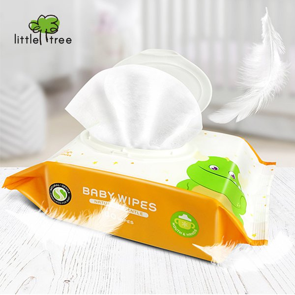 [LITTLE TREE] Baby Wipes (Hands & Mouth) 80 Wipes