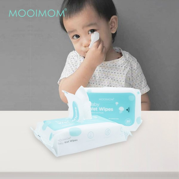 MOOIMOM Wet Wipes (1 Pack isi 20 Lembar)