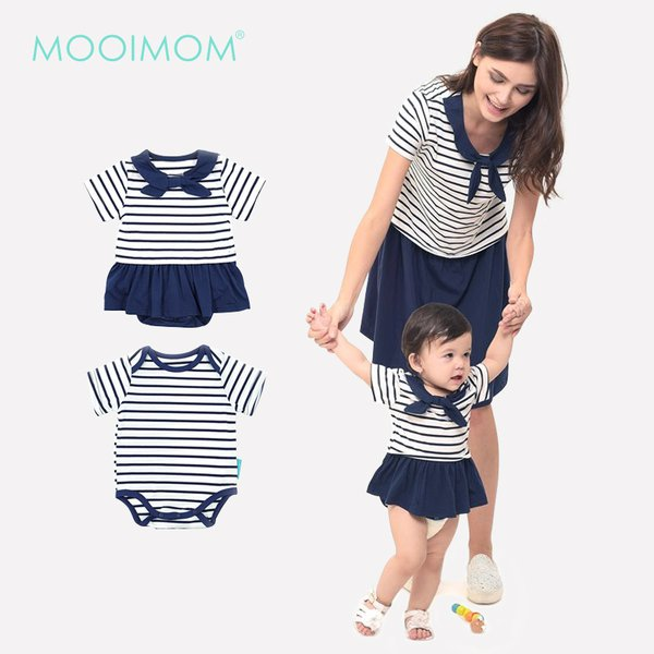 MOOIMOM Scout Look Nursing Dress Couple Set Baju Hamil Menyusui Couple Ibu Anak