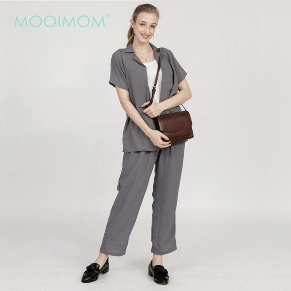 MOOIMOM Casual Long Maternity Pants - Celana Hamil