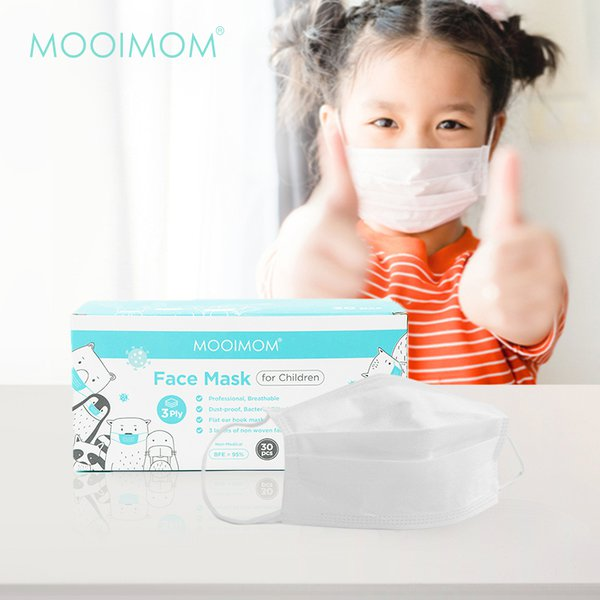 MOOIMOM Disposable Face Mask 30 Pcs - Masker Anak