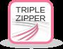 triple zipper